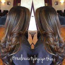 dark brown with mocha brown and blonde highlights hair by