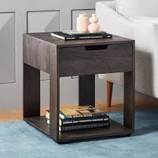power of books sculptural glass topped side table industrial storage side table west elm