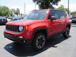 red jeep renegade 2016 used one owner 2016 jeep renegade trailhawk daytona beach fl