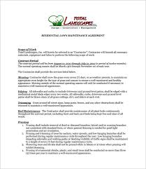 6 lawn service contract templates u2013 free word pdf documents