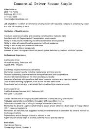 Resume For Driving Job by Commercial Driver Resume Free Resume Example And Writing Download
