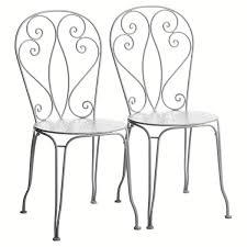 chaises en fer forgé cuisine chaise bistrot en fer forge chaises fer forgé blanc chaises