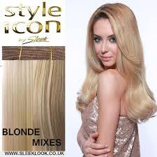Blonde Weft Hair Extensions by Sleek Style Icon Remy Hair Extension Sleeklook Co Uk