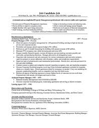 exle management resume property manager resume should be rightly written to describe your