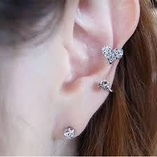 heart cartilage heart ear cuff clip cartilage clip on earring helix
