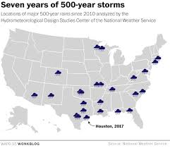 hurricane harvey is third u0027500 year u0027 flood in houston in 3 years