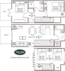 2 bedroom with loft house plans premier two bedroom with loft condo 4 q ridge resort