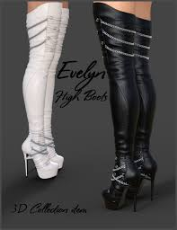 s high boots high boots for genesis 3 females 3d figure assets arryn