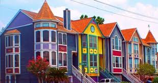 new orleans colorful houses crazy exterior color schemes davinci roofscapes