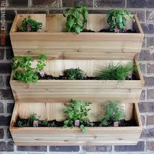 planters that hang on the wall cedar wall planter free diy plans rogue engineer