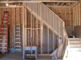 garage stairs ideas fabulous stair stringers cut and stored