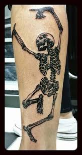 laughing and skeleton for tattoos for