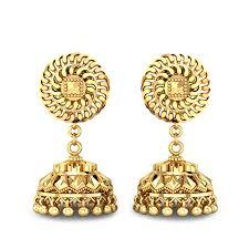 big jhumka gold earrings dristi gold jhumka jewellery shopping online india yellow gold