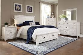 Antique White King Bedroom Sets Taryn 4 Piece King Storage Bedroom Set Antique White Levin