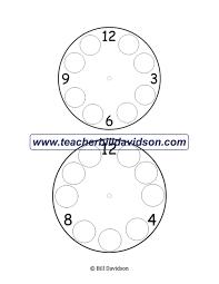 missing numbers on a clock worksheet u2014 the davidson group