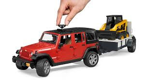 matchbox jeep wrangler amazon com bruder jeep wrangler unlimited rubicon with trailer