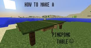 How To Make A Table In Minecraft How To Make A Pingpong Table In Minecraft Youtube