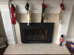 Mosaic Tile Fireplace Surround by Cream Herringbone Stone Mosaic Tile Mosaic Tile Fireplace Tiled