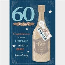 birthday cards for 60 year personalised 60th birthday cards from 1 49 gettingpersonal co uk