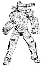 Iron Man Machine Coloring Page  Coloring Galore  Pinterest