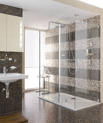 united states mosaic shower tile bathroom modern with glass door