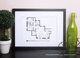 Tv Show Apartment Floor Plans Friends Tv Show Apartments U0026 Central Perk Art Tv Floor Plans