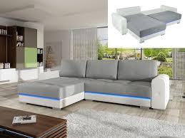 canapé convertible gris et blanc canapé d angle convertible bimatière gris blanc keren