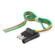 curt manufacturing curt 4 way flat connector plug 58030