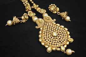 gold tone necklace set images Imitation jewellery antic gold tone necklace set jpg