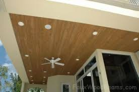 Outdoor Wood Ceiling Planks by Faux Wood Exterior Ceiling Panels Lader Blog