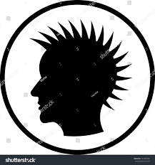 punk rock hairstyle head vector isolated stock vector 147002756