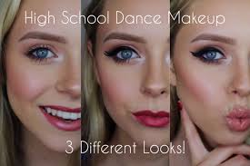 school for makeup high school makeup three different looks cosmobyhaley