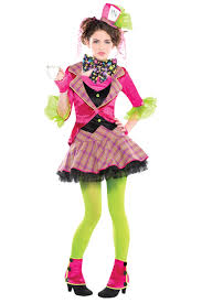 katniss everdeen halloween costume party city girls mad hatter costume u0026 tights new tea party fairy tale fancy