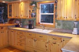 Knotty Pine Kitchen Cabinet Doors Cherry Wood Kitchen Cabinets With Black Granite Knotty Pine