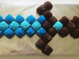 minecraft cupcake ideas minecraft diamond sword cake tutorial mumturnedmom