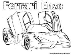 ferrari enzo sketch ferrari coloring pages coloring home