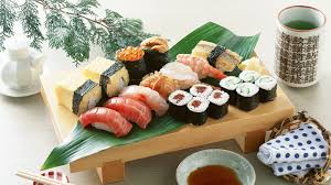 download wallpaper 3840x2160 rolls sushi seafood plate food
