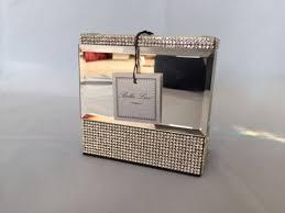 bella lux mirrored crystal rhinestone bathroom bath accessory set new