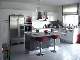 deco cuisine noir et blanc deco cuisine noir et blanc idee pour blanche 2 gris