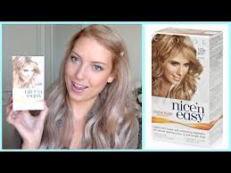 nicen easy color chart new hair clairol nice n easy hair dye review youtube