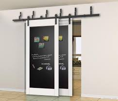 Indoor Sliding Barn Doors by 5 5ft 6ft Bypass Sliding Barn Wood Closet Door Interior Sliding