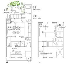Residence Inn Floor Plan by Akane An Kyoto Holiday House Machiya Residence Inn