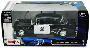 california model car 1955 buick century california highway patrol car black maisto