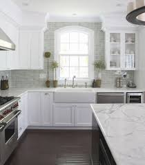 houzz kitchen tile backsplash marble subway tile backsplash wall around window via houzz com jpg