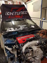 hellcat engine swap this madman is stuffing a new honda civic type r motor into a 1992