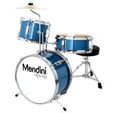 amazon com mendini by cecilio 13 inch 3 piece kids junior drum