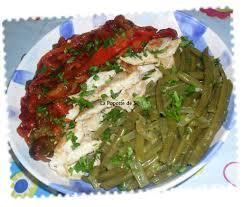 cuisiner le poivron vert escalopes accompagnés d haricots verts sautés et poivron