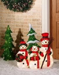 2013 outdoor led snowman decor three snowman for