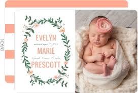 birth announcements pink baby deer winter birth announcement girl birth announcements