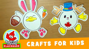 egg friends easter craft for kids maple leaf learning playhouse